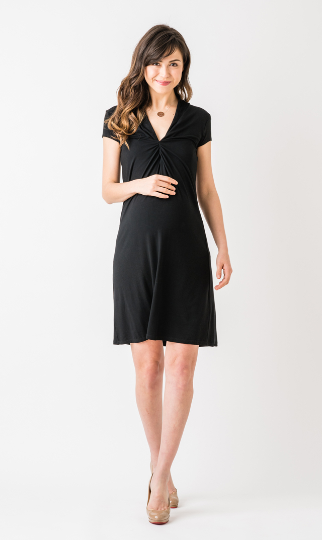 【オリアン】ルーシーVネックドレス(ブラック)