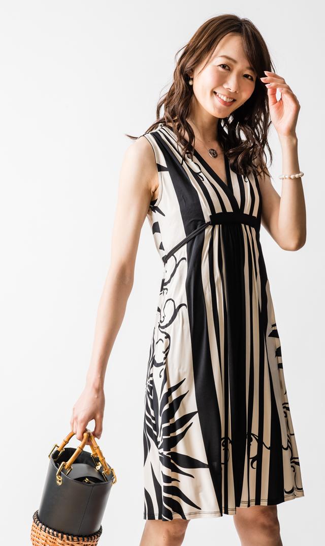 【オリアン(OLIAN)】ハーロウドレス(ブラック×ホワイト)