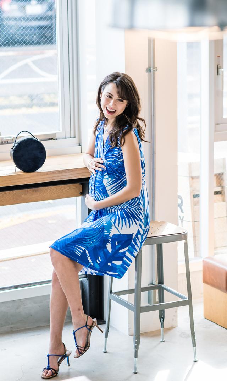 【オリアン(OLIAN)】ミリードレス(ブルー×ホワイト)