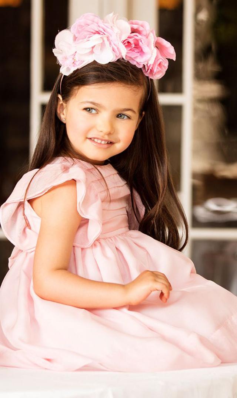 【パタシュー(Patacho)】ラッフルドレス(ペールピンク)/6ヶ月-4歳[アウトレット]