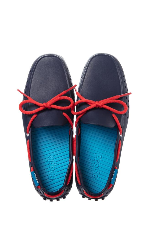 【ピープル フットウェア(People Footwear)】THE SENNA水陸両用デッキシューズ(ネイビー×レッド)
