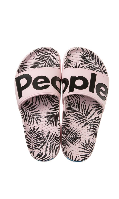 【ピープル フットウェア(People Footwear)】THE LENNON SLIDEデッキサンダル(ピンク×パーム)