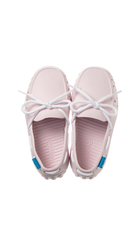 【ピープル フットウェア(People Footwear)】THE SENNA水陸両用レースアップキッズデッキシューズ(ピンク×ホワイト)
