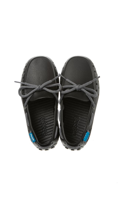 【ピープル フットウェア(People Footwear)】THE SENNA水陸両用レースアップキッズデッキシューズ(ブラック×グレー)