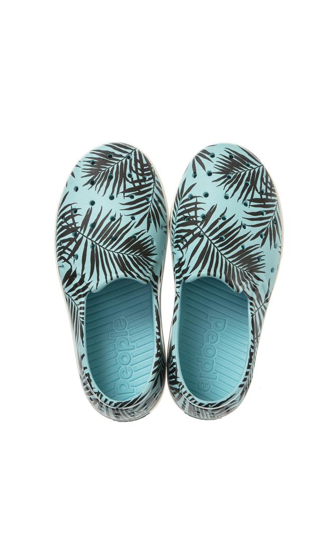 【ピープル フットウェア(People Footwear)】SLATER水陸両用キッズデッキシューズ(ライトブルー×パーム)