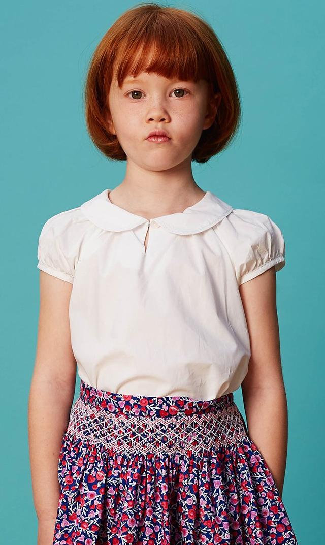 【クエスチョンエブリシング(Question Everything)】HOPEブラウス(ホワイト)/4-9歳