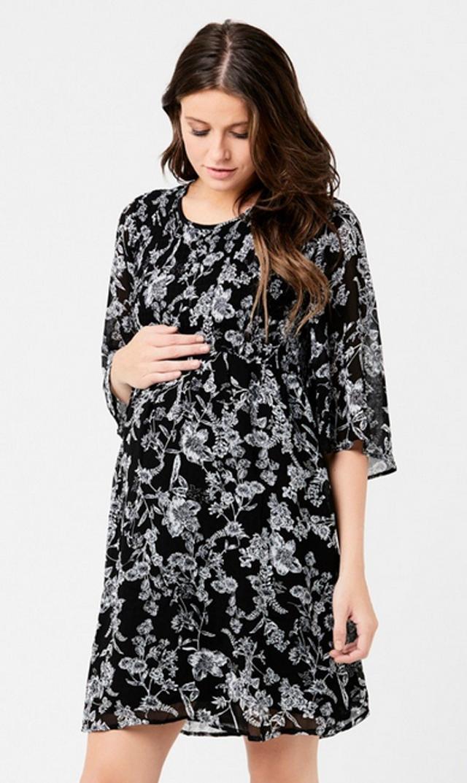 【ライプ(RIPE)】フラワープリントシアードドレス(ブラック)