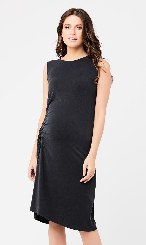 【ライプ】ロレッタルーシュドドレス(ブラック)