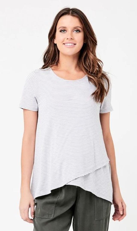 【ライプ】メゾンナーシングTシャツ(グレー×ホワイト)
