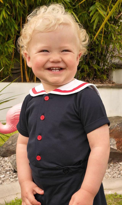 【レイチェルライリー(Rachel Riley)】ジャージーセーラーセット(ネイビー)/6ヶ月-2歳
