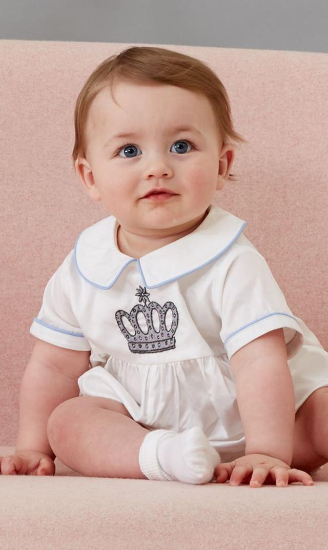 【レイチェルライリー(Rachel Riley)】プリンスクラウンベビースーツ(アイボリー)/3ヶ月-18ヶ月