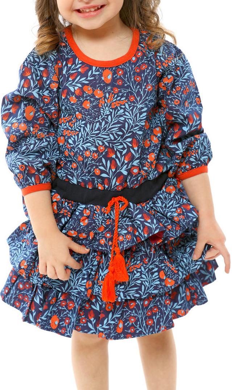 【ソフィーカタルー(Sophie Catalou)】ラッフルドレス(ノーチェブルー)/2歳~8歳