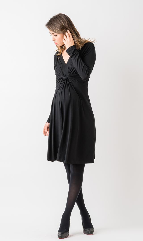 【セラフィン(seraphine)】ジョリーヌ3/4スリーブドレス(ブラック)
