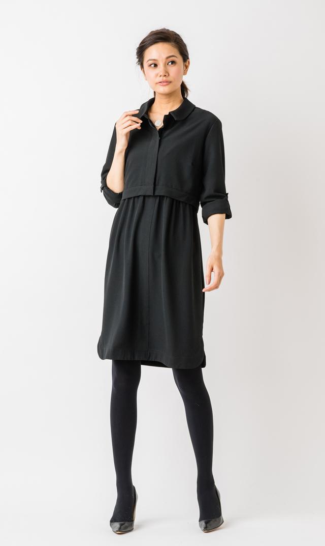 【セラフィン(seraphine)】グレイスナーシングドレス(ブラック)