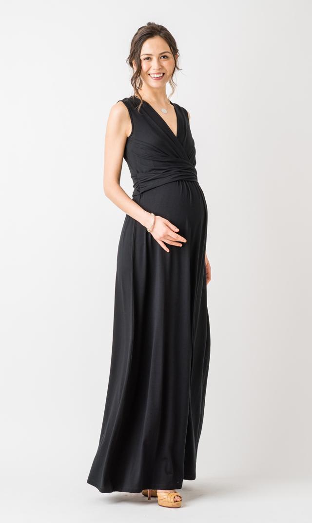 【セラフィン(seraphine)】エモリーロングドレス(ブラック)