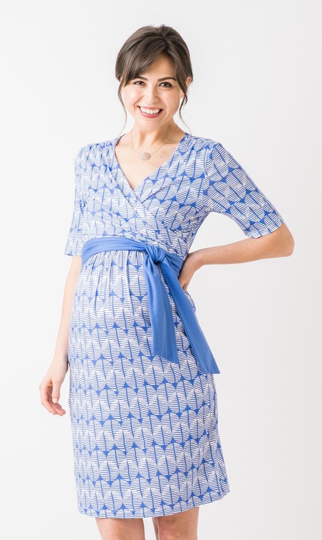【セラフィン(seraphine)】ジャスミンナーシングドレス(ブルー)