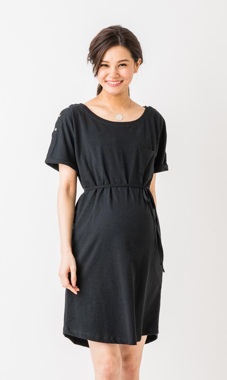 【セラフィン(seraphine)】ポレットナーシングドレス(ブラック)