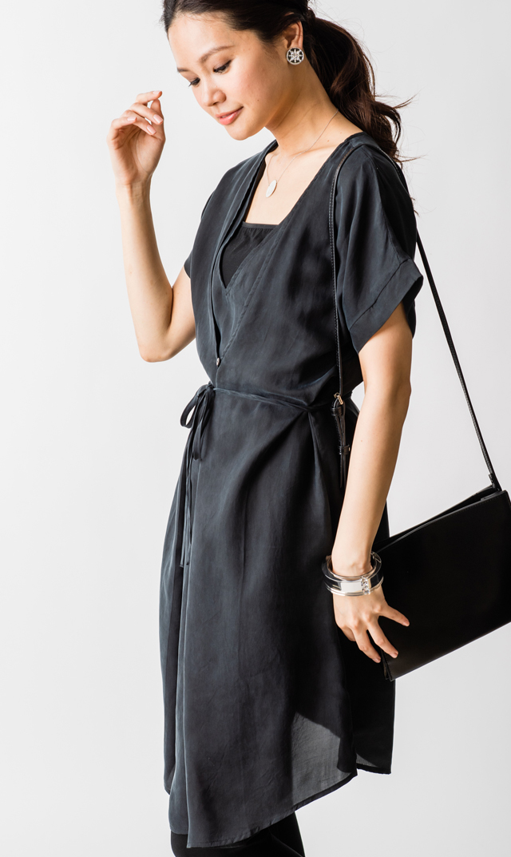 【セラフィン(seraphine)】ドーンナーシングドレス(ブラック)