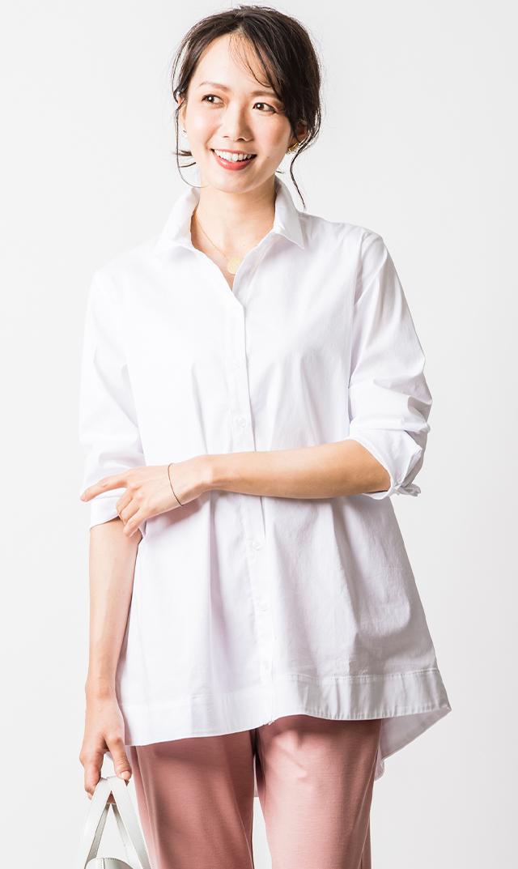 [マタニティ・授乳OK]【スーン】エッセンシャルシャツ(ホワイト)