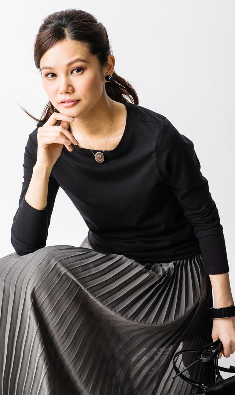 【スーン(SOON)】オーガニックコットンロングスリーブTシャツ(ブラック)