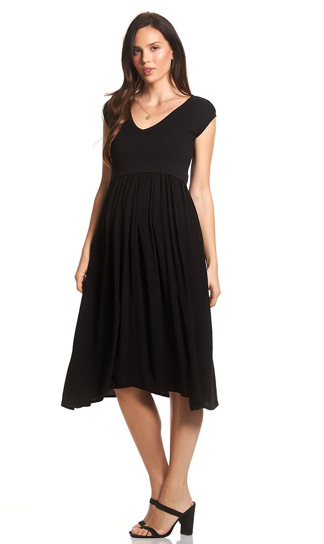 【スーン】フランシスミディナーシングドレス(ブラック)[SALE]
