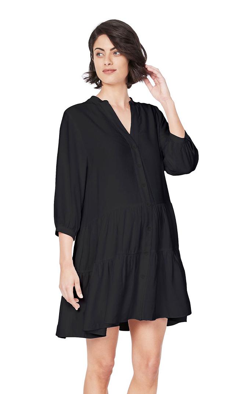 【スーン】メラニーチュニックドレス(ブラック)
