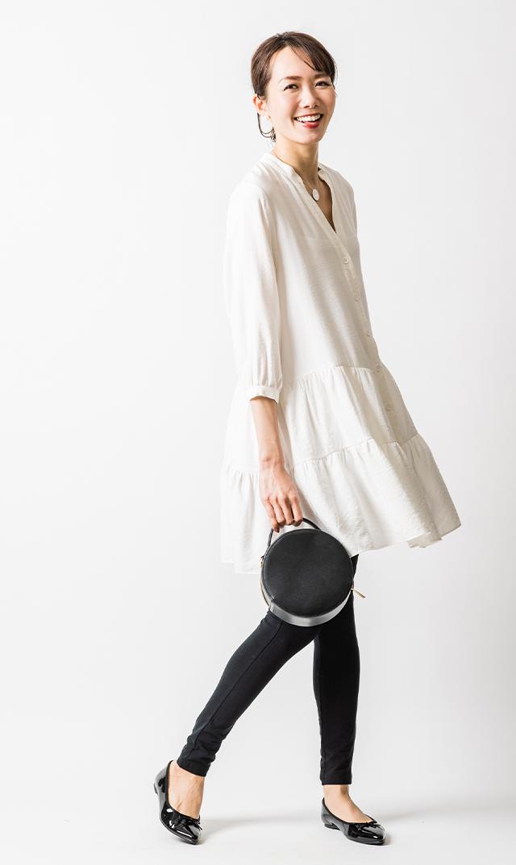 【スーン】メラニーチュニックドレス(ホワイト)