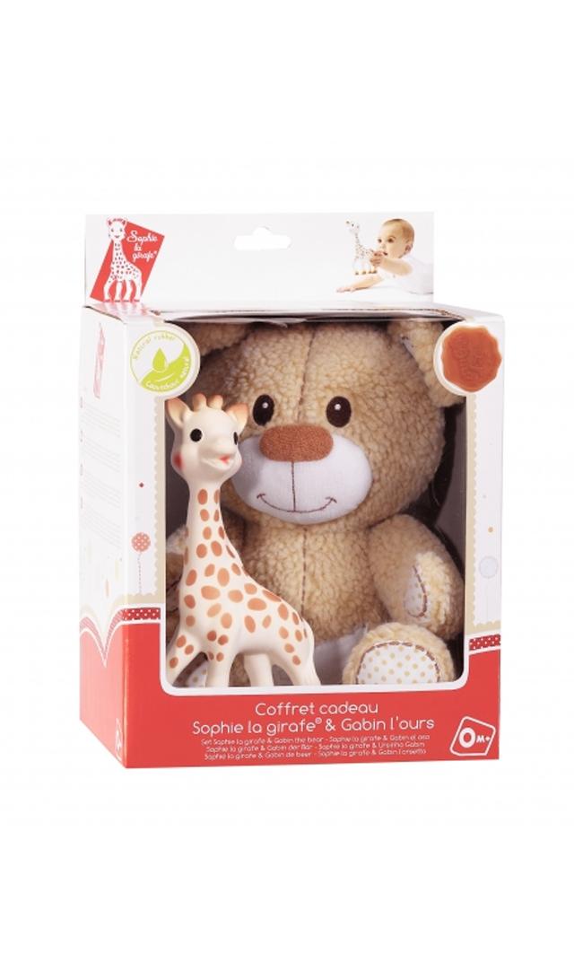【キリンのソフィー(Sophie la girafe) 】 ソフィー+くまのギャバンぬいぐるみセット