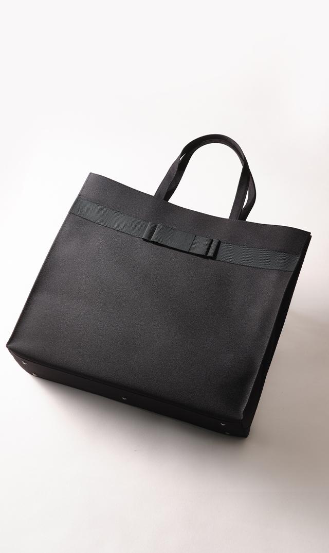【プチソワール】お受験用サブバッグ(ブラック特大サイズ)