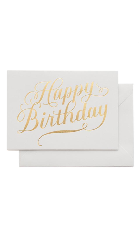 【シュガーペーパー】happy birthday calligraphy,gray