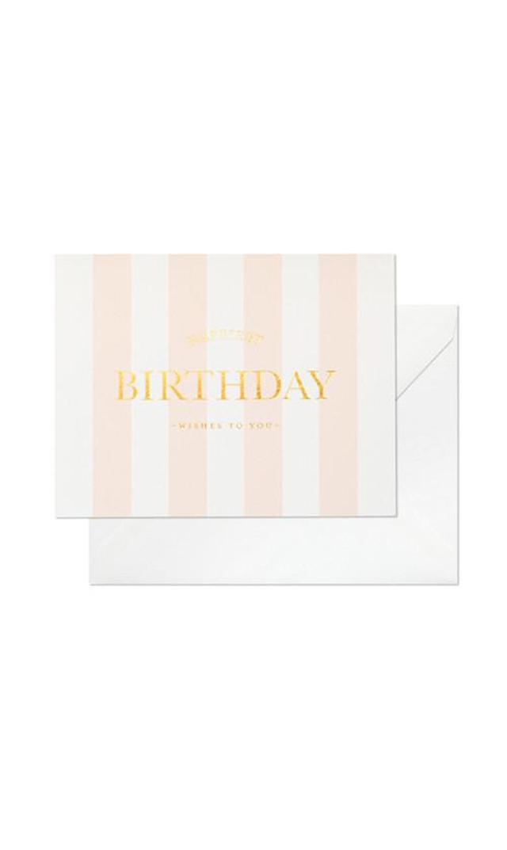 【シュガーペーパー(SugarPaper)】HAPPIEST BIRTHDAY STRIPE