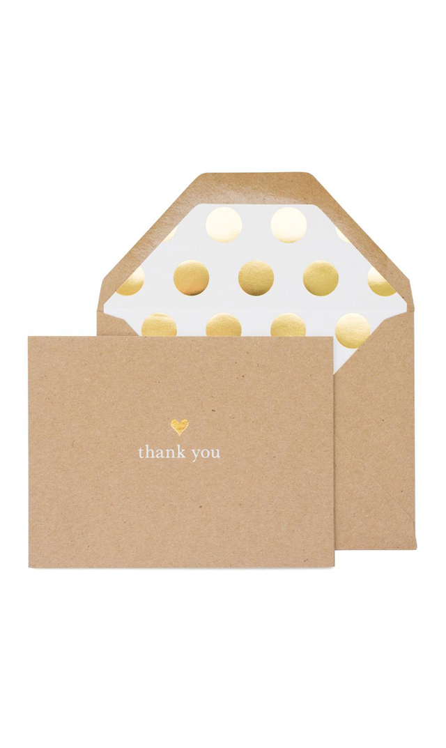 【シュガーペーパー(SugarPaper)】THANK YOU HEART CARD