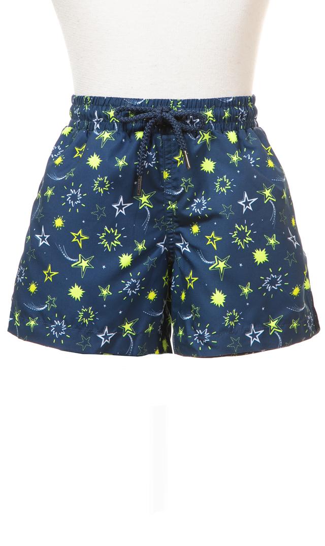 【スヌーヴァ(sunuva)】スイムショートパンツ(ネイビー×スター)/2歳-8歳