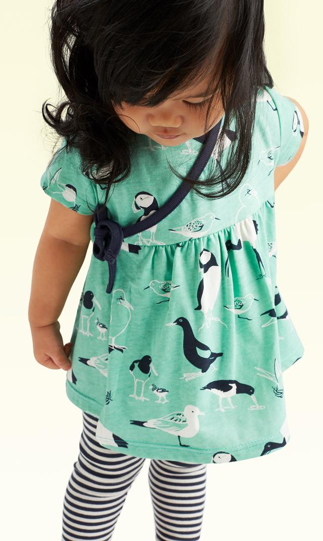 【ティー(TEA)】シーバードベビートップ&パンツセット(レインウォーター)3ヶ月-2歳