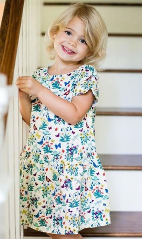 【ティー(TEA)】ヘザーピュアティドレス(クリーム)2歳-12歳