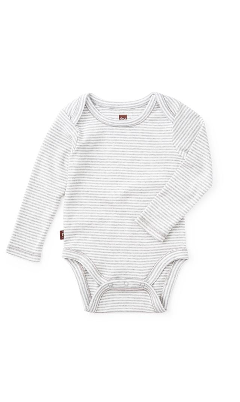 【ティー(TEA)】ストライプボディスーツ(ストームグレー)3ヶ月-2歳