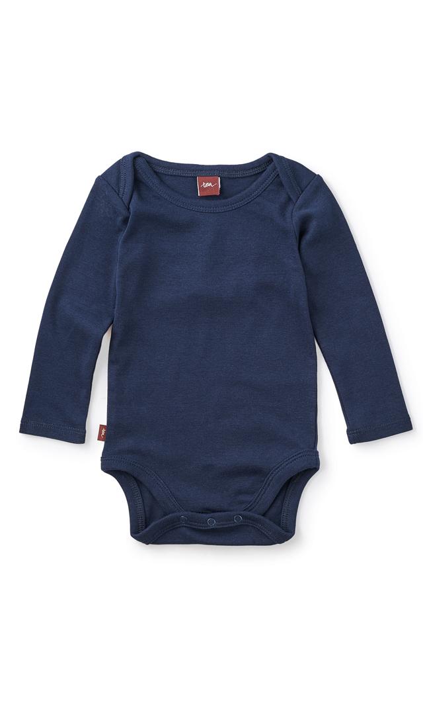 【ティー(TEA)】ベーシックベビーボディスーツ(ネイビー)6-12ヶ月