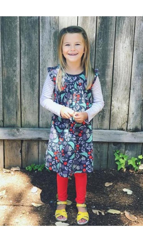 【ティー(TEA)】ディストルレイヤードドレス(インディゴ)2歳-12歳