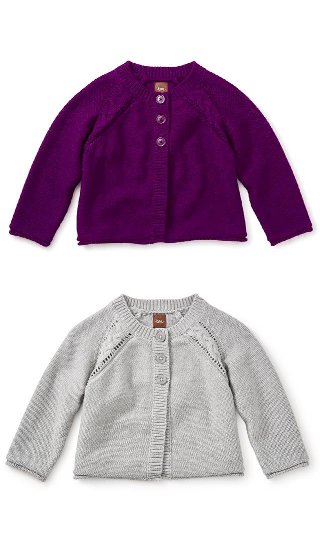 【ティー(TEA)】アガタカーディガン(2色展開)3ヶ月-8歳