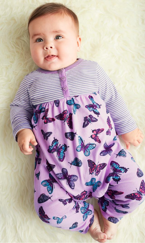 【ティー(TEA)】バタフライロンパース3ヶ月-24ヶ月