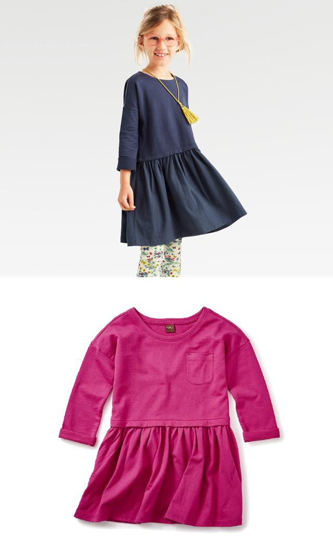 【ティー(TEA)】ソリッドポケットドレス(2色展開)2歳-12歳