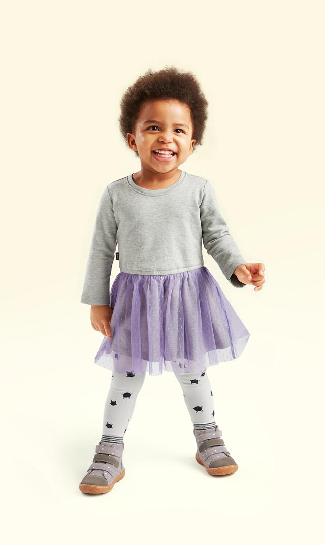 【ティー(TEA)】チュールスカートドレス3ヶ月-24ヶ月