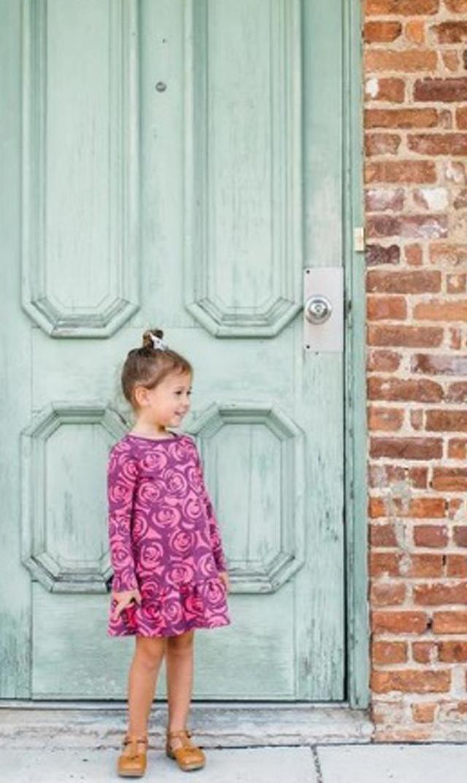 【ティー(TEA)】レニーローズラッフルドレス(ショッピングピンク)2歳-8歳