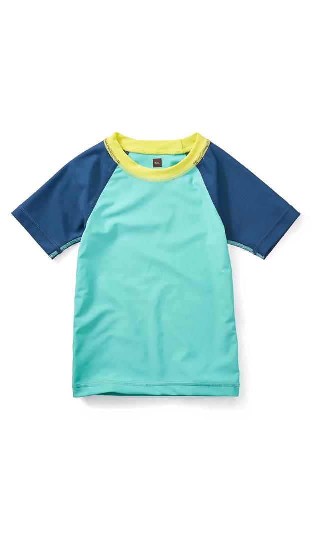 【ティー(TEA)】ビーチラッシュガード(ブルー)/2-12歳