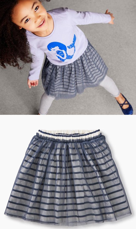 【ティー(TEA)】ストライプチュチュスカート(2色展開)/2歳-8歳