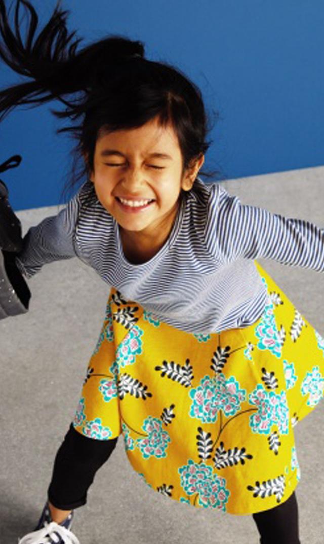 【ティー(TEA)】スカートドレス(アジアンフローラル)2/歳-8歳