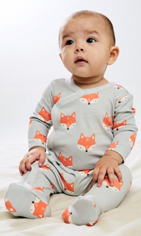 【ティー(TEA)】フーテッドロンパース(フォックス)/3ヶ月-12ヶ月