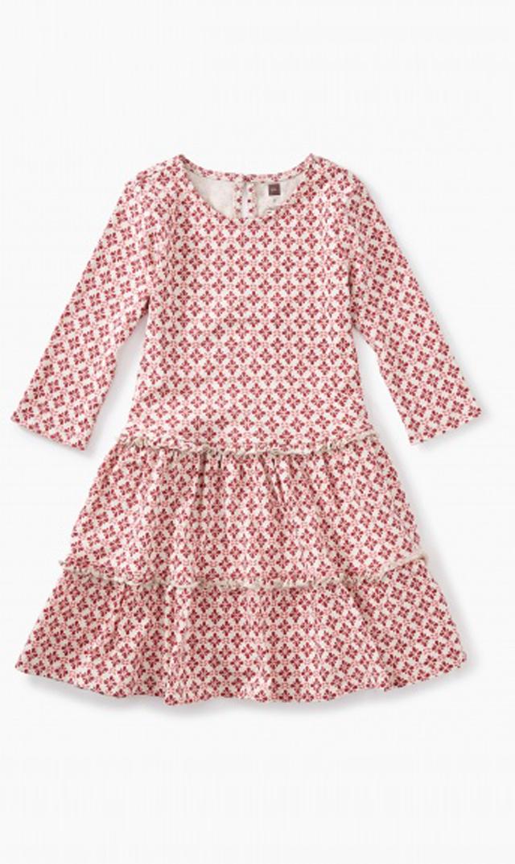 【ティー(TEA)】プリントティアードドレス(ポリッシュポータリー)/2歳-8歳