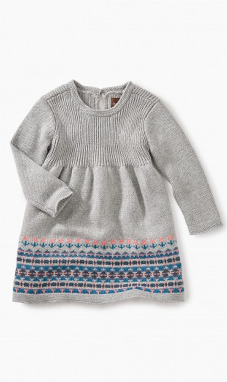 【ティー(TEA)】セータードレス(ヘザーグレー)/3ヶ月-18ヶ月