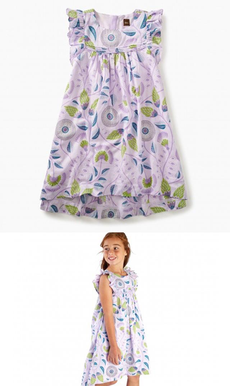 【ティー(TEA)】ブルーミングフラワードレス(アフリカンライラック)/2歳-5歳
